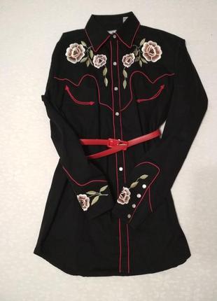 Шикарная рубашка, вышивка, кнопки