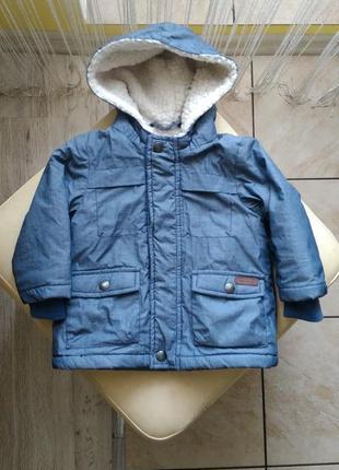Стильна демі курточка newbie, 68 р.,3-6 міс. /теплая деми куртка