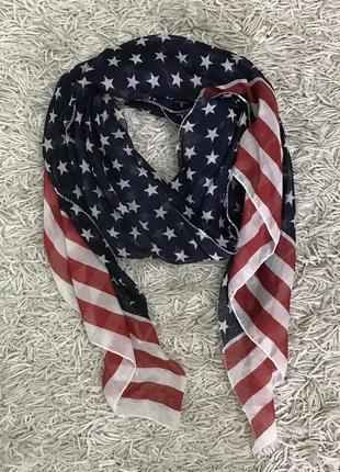 Стильный шарф из натурального шелка и хлопка 78х176