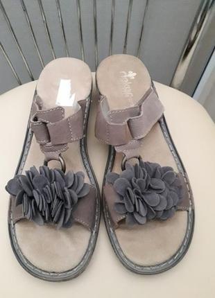40 p. rieker супер комфортные босоножки сандалии