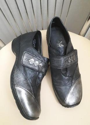 37 р. rieker кожаные туфли полуботинки
