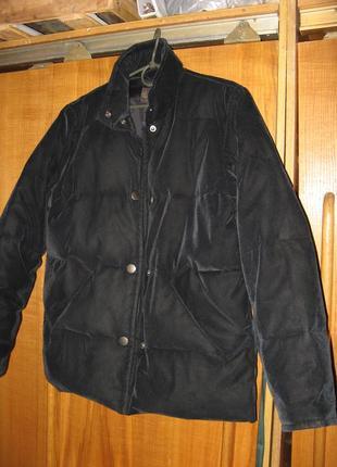 Куртка зимняя пуховик оверсайз натуральный пух zara оригинал размер m - l новая