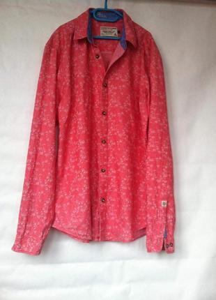 Рубашка коралловая  jack&jones l