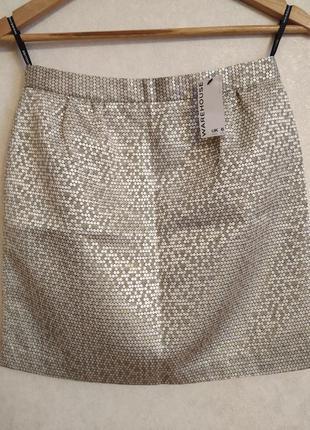 Золотистая юбка / юбка на праздник warehouse