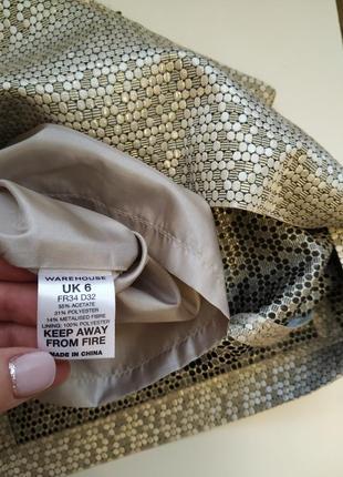 Золотистая юбка / юбка на праздник warehouse4 фото