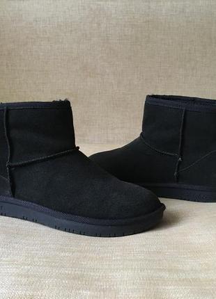 Зимние замшевые ботинки, угги, сапоги skechers, 38 р.