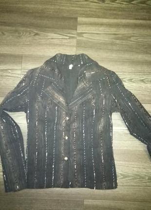 Пиджак набивной.