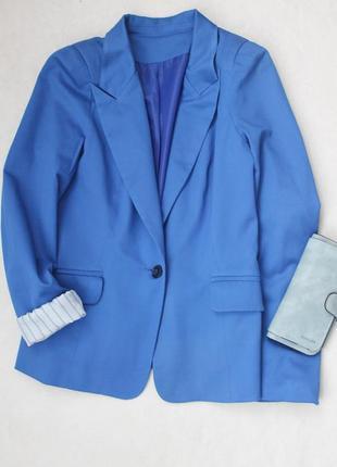 Стильный синий пиджак, размер s