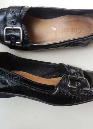 Кожаные туфли балетки gabor 4g 24см