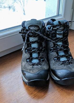 Зимние треккинговые ботинки meindl, gore tex, vibram
