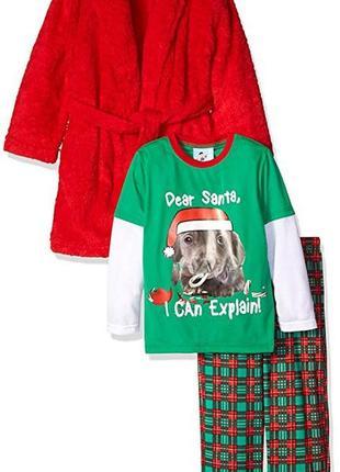 Костюм 3ка халат и пижама штаны кофта bunz kids на мальчика 4 года
