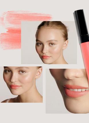 New 2018 увлажняющий тинт для губ и щек chanel rouge coco lip blush # 414 tender rose