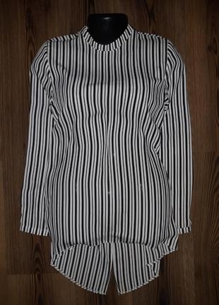 Стильная блуза в подоску со стоечкойatmosphere pp 10