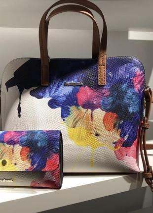 Набор сумка+кроссбоди+кошелек desigual