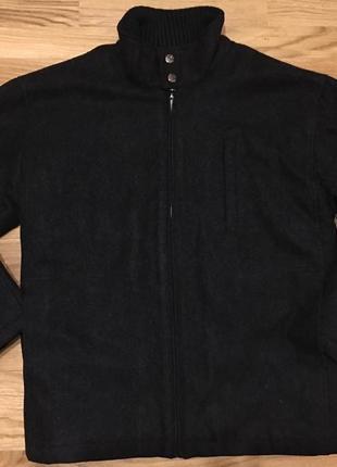 Мужское зимнее демисезонное шерстяное пальто куртка пиджак