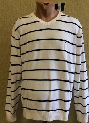 Мужской новый джемпер свитер tommy hilfiger оригинал кашемир коттон размер l