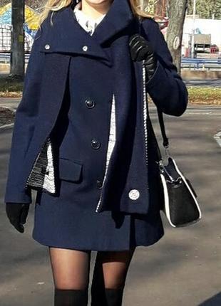 Пальто шерстяное 100% benetton