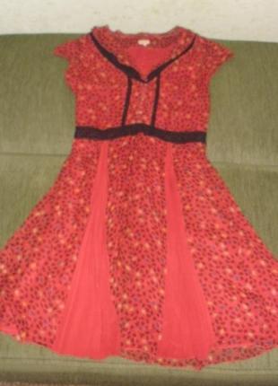 Оригинальное шелковое платье whistles англия на высокий рост 100% шелк /англ 10