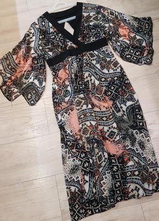Замечательное миди платье  рукав кимоно fearne cotton