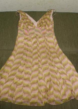 Красивое шелковое платье от karen millen 100% шелк /англ 12