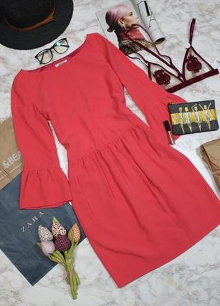 Обнова! платье фуксия рукава клёш бренд moschino