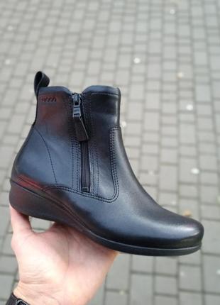 Кожаные ботинки ecco оригинал