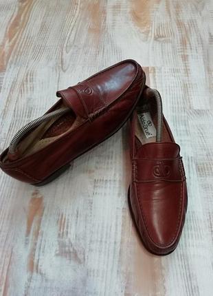 Aldo brue! шикарные туфли из мягчайшей итальянской кожи /стелька 28,3 см