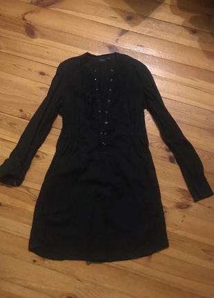 Чёрное строгое платье от lindex