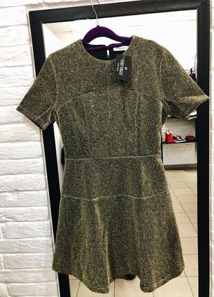 Стильное люрексовое платье на подкладке в наличии