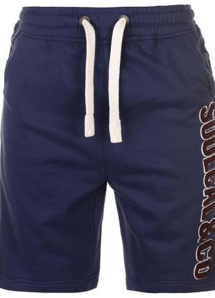 Soulcal с большим логотипом флисовые шорты мужские синие