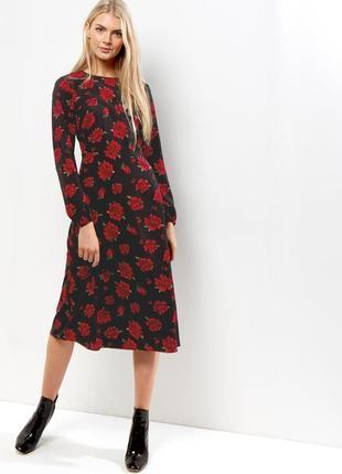 🌿 фантастическое миди платье с флористическим принтом от new look