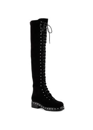 1178б женские ботфорты vensi,на низком каблуке,на каблуке,на низком ходу,на шнурках
