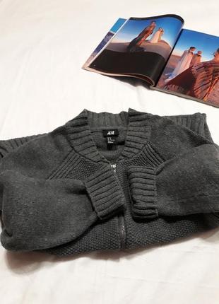 Вязаный теплый кардиган(джемпер/свитер) на молнии! тотальная распродажа в  профиле