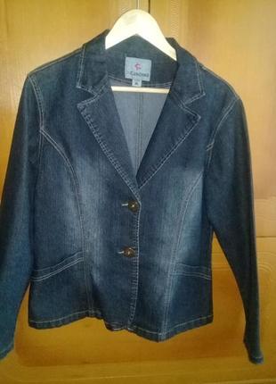 Практичный джинсовый пиджак, куртка3 фото