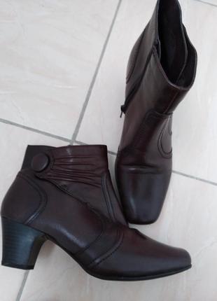 Кожаные  ботинки  janet d.