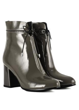 1157б женские ботильоны lady marcia,кожаные,на толстом каблуке,на плоской подошве