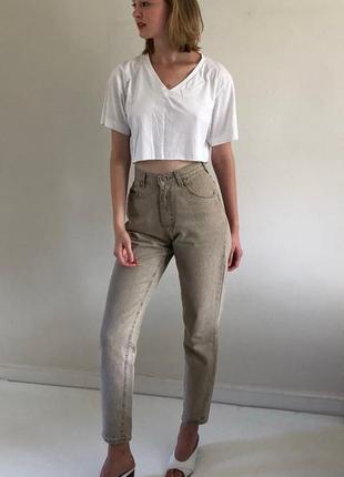 Новые джинсы lee на высокой посадке ,мом джинсы