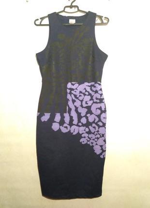 Платье змеиный принт миди футляр
