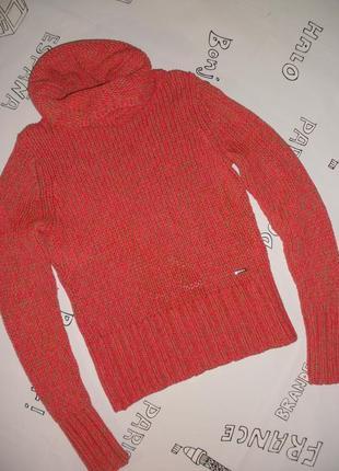 Уютный, крупной вязки свитер mexxsport c красивым воротником-хомутом