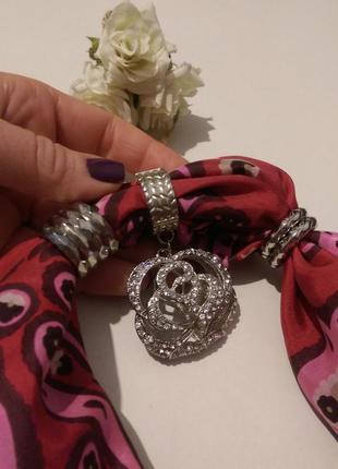Кольца-держатели для платка,шарфа,набор,7 шт-цена за набор