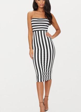 Prettylittlething стильна смугаста сукня-футляр