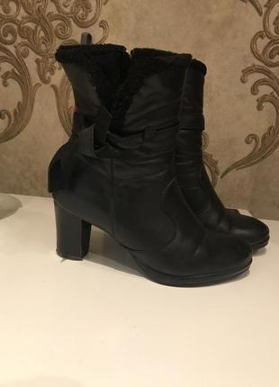 Классные кожаные ботинки