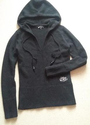 Шерсть ламы и ангоры 90% свитер худи идеальный р 12