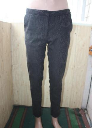 Штаны брюки чёрные с ажурным рисунком