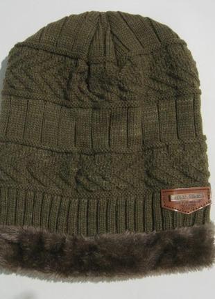 Стильный зимний набор / шапка + снуд /унисекс 73