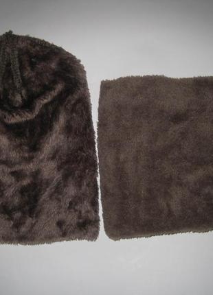 Стильный зимний набор / шапка + снуд /унисекс 75