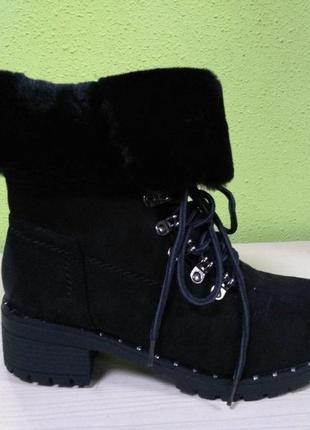 С 36 по 41 рр зимние ботинки зимові на меху полусапожки зима женские полусапожки