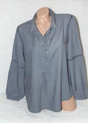 Шикарная  серая блузочка white stuff