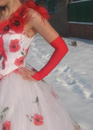Интересное свадебное платье
