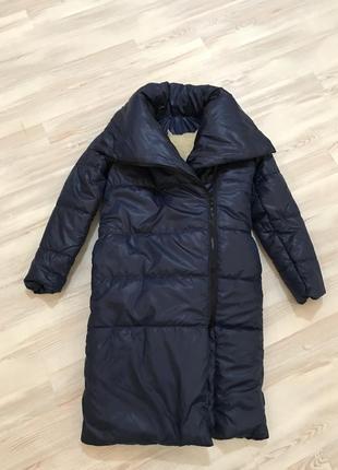 Обьемное зимнее пальто одеяло свободное оверсайз в стиле zara